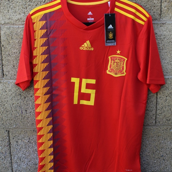 outlet store 40628 0f834 Adidas Spain Soccer Sergio Ramos Jersey NWT